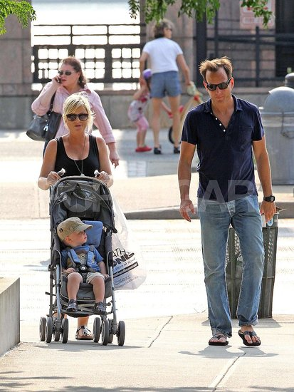 Pictures of Amy Poehler, Will Arnett and Archie