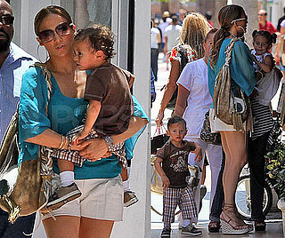 Pictures of Jennifer Lopez With Twins Max and Emme in Miami