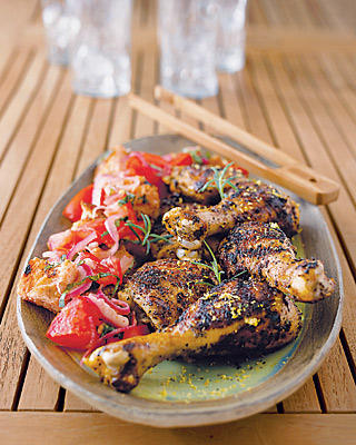 Lemon Chicken With Tomato Bread Salad Recipe