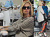 Pictures of January Jones Getting Nails Done in LA