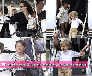 Photos of Angelina Jolie in Cancun With Shiloh, Zahara, Pax, and Maddox 2010-06-30 15:23:07