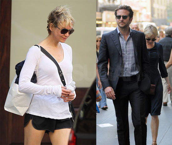 Renée Zellweger and Bradley Cooper in New York City
