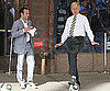 Slide Picture of Landon Donovan and David Letterman in New York