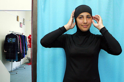 Muslim Women Wear Burqinis to Swim