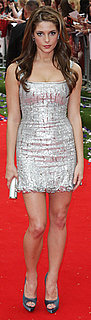 Ashley Green Wearing Silver L'Wren Scott Dress at London Eclipse Premiere