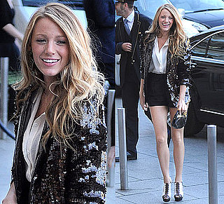 Pictures of Blake Lively in Christian Louboutin Sandals in Paris