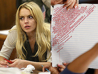 Pictures of Lindsay Lohan Crying in Court