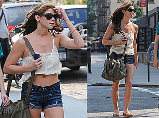 Pictures of Ashley Greene Showing Stomach in New York Heat Wave