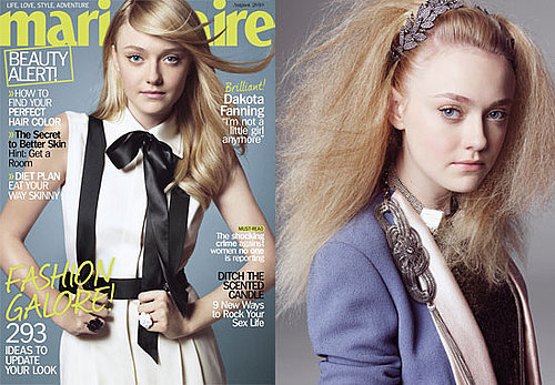 Pictures and Quotes Dakota Fanning in Marie Claire US Talking About Kissing Kristen Stewart