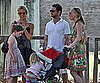 Slide Picture of Jason Priestley With Family in Rome