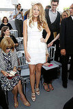 Blake Lively in all-white Christian Dior.