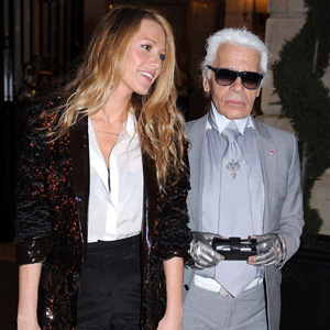 Karl Lagerfeld Spotted with Blake Lively in Paris