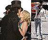 Pictures of Russell Brand Kissing Greta Gerwig On The Set of Arthur in New York