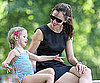 Slide Picture of Jennifer Garner and Violet Affleck in Central Park