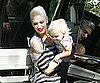 Slide Picture of Gwen Stefani and Zuma Rossdale in LA