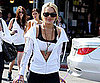 Slide Picture of Lindsay Lohan in Sports Bra in LA