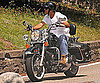 Slide Picture of George Clooney on a Motorcycle in Lake Como, Italy