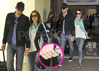 Pictures of John Krasinski and Emily Blunt at LAX After Wedding on Lake Como