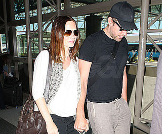 Slide Picture of Newlyweds John Krasinski and Emily Blunt at LAX