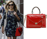 Photos of Fearne Cotton with Red Patent Shoulder Bag Called Neely my Mulberry
