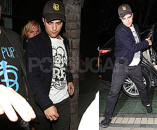Pictures of Robert Pattinson at a Bobby Long Concert