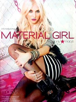 "Taylor Momsen Revealed as Madonna's ""Material Girl"""