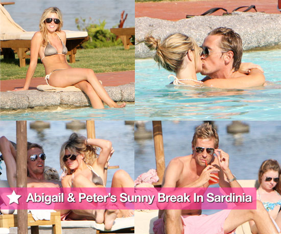 Pictures of Abigail Clancy in a Bikini Kissing Shirtless Footballer Peter Crouch in Sardinia