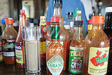 All varieties of hot sauce.