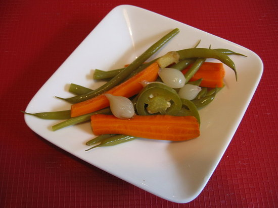 Pickled vegetables: a must have.