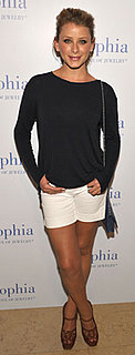 Lo Bosworth Wears White Shorts and YSL Heels to Lia Sophia Event