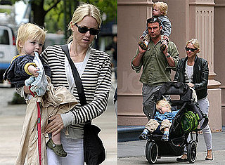 Pictures of Naomi Watts and Liev Schreiber With Samuel and Sasha in New York