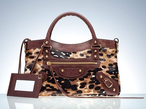 Balenciaga 10th Anniversary Animal Print Motorcycle Bag
