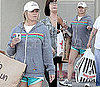 Pictures of Jessica Simpson Shopping in Shorts and a Sweatshirt