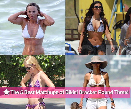 Kim, Halle, Kate, and Geri: The Five Best Matchups of Bikini Bracket Round Three!