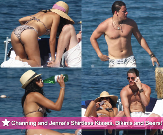 Pictures of Shirtless Channing Tatum and Jenna Dewan in a Bikini While on an Italian Vacation