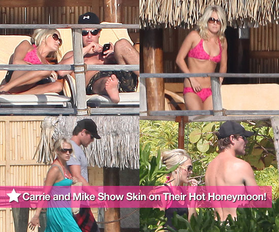 Carrie and Mike Show More Skin on Their Hot Honeymoon!