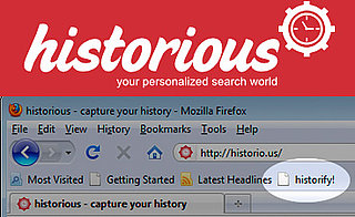 Historious Search Engine For Bookmarked Content