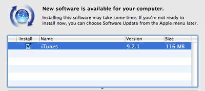 iTunes 9.2.1 Update For iOS 4 and iPhone 4 Users