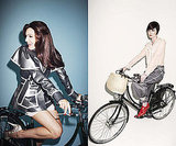 Photos of Kelly Brook and Erin O'Connor Riding Bikes