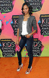 Zoe wore an Isabel Marant blazer, denim skinnies, and Christian Louboutin pumps at the Kids' Choice Awards in LA.