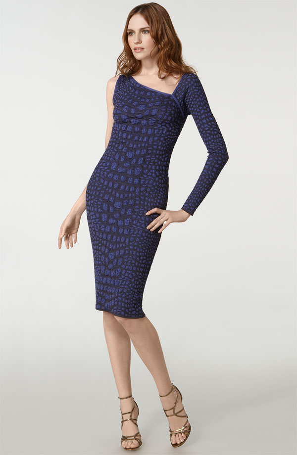M Missoni Croc Print One Shoulder Dress ($645)