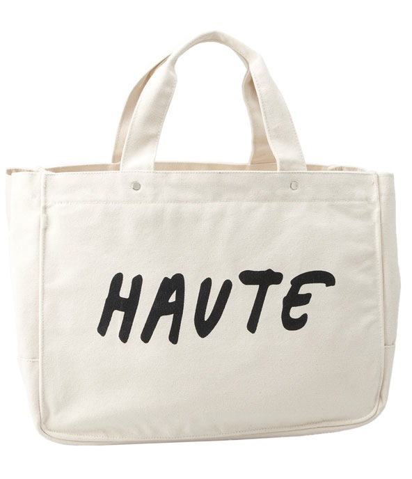 One Language Cotton Canvas Tote ($110; more styles available)