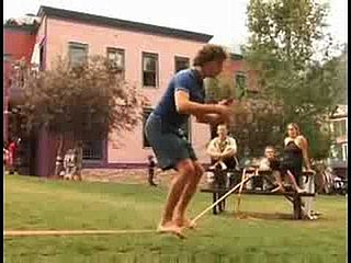 Video Demonstration of Slackline Yoga