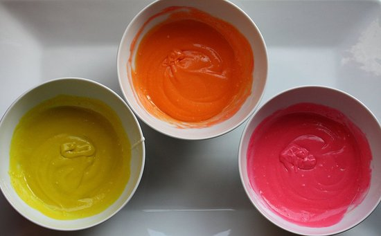cake batter for rainbow cupcakes
