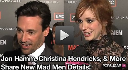 Stars including Jon Hamm, Christina Hendricks and Elisabeth Moss talk about the Mad Men Season Four Premiere