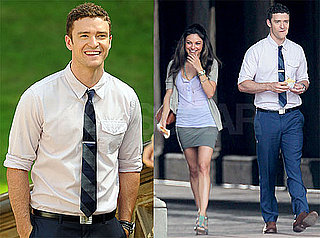 Pictures of Justin Timberlake, Patrica Clarkson, and Mila Kunis on the Set of Friends With Benefits