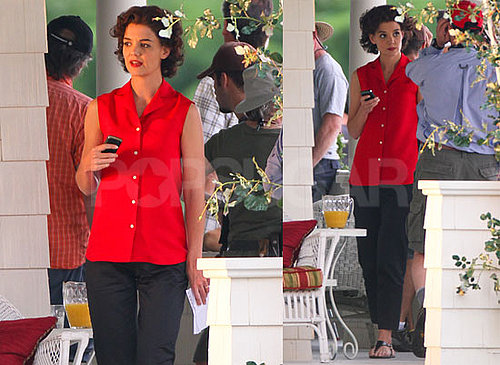 Pictures of Katie Holmes Filming The Kennedys in Canada 2010-07-20 16:00:00