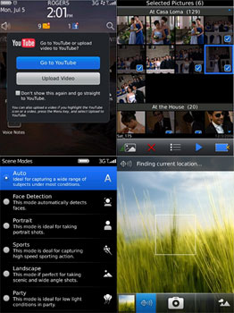 Photos of the BlackBerry OS 6 Media Features