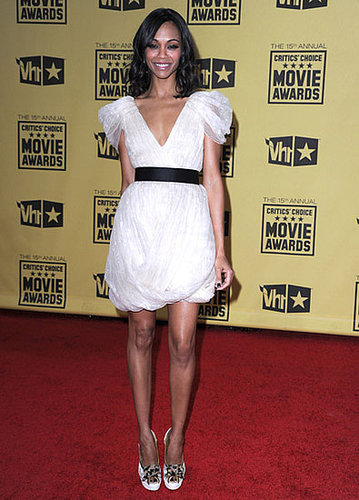 Zoe looked sweet wearing Jason Wu to the Critics' Choice Movie Awards.
