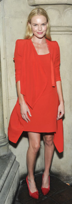 Kate Bosworth Wears Red Vanessa Bruno Dress in LA